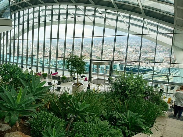 The Sky Garden at London's Walkie Talkie building