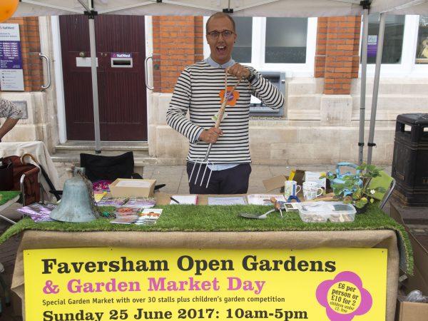 Faversham Open Gardens stall
