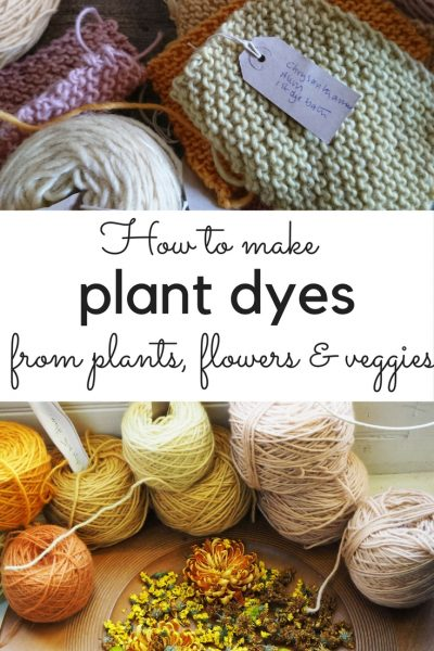 DIY plant dyes from your garden and kitchen - make natural dye from plants #plantbased