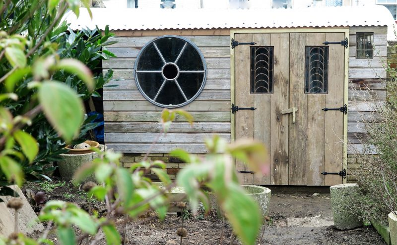 Build a shed from salvage