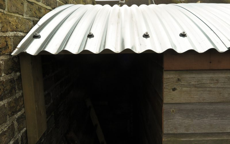Corrugated iron roof detail
