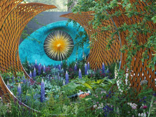 Vivid colour at the David Harber and Savills garden at RHS Chelsea