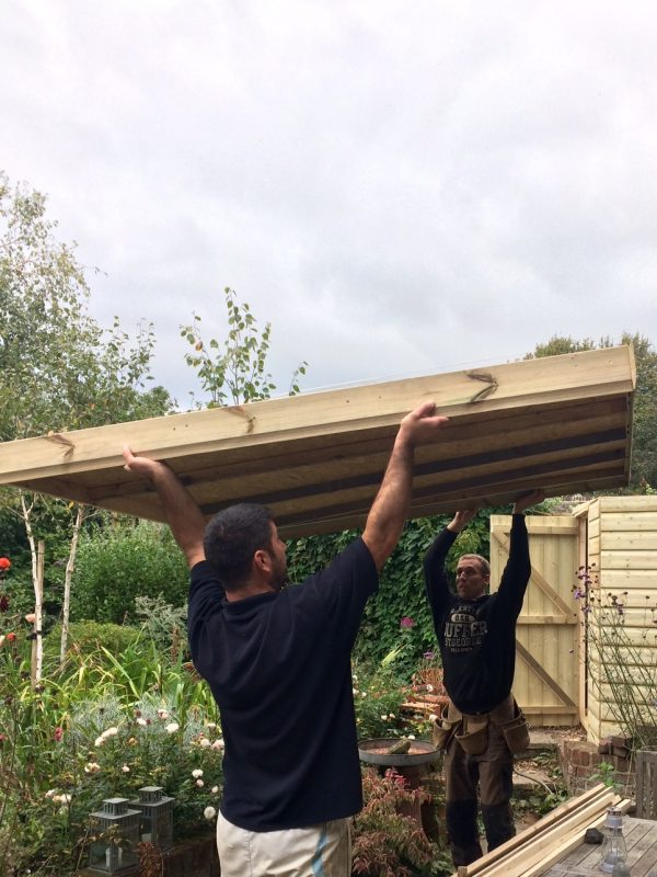 Replacing a shed roof