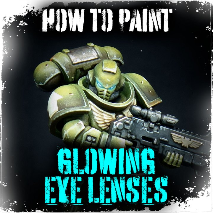 How to paint Glowing eye lenses