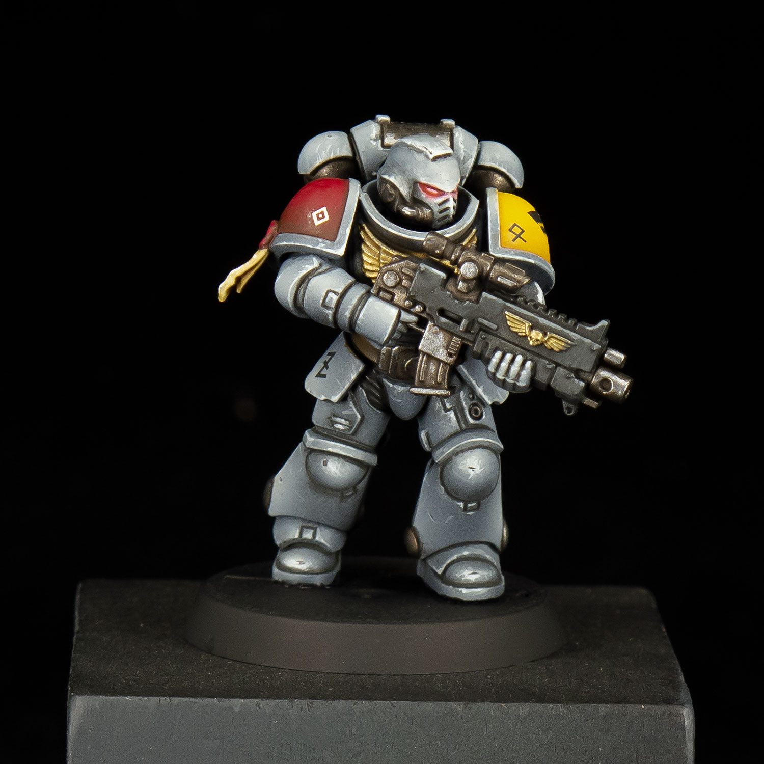The Mighty Brush Space Wolf test model