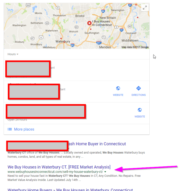 How to rank 1 on google we buy houses in waterbury CT