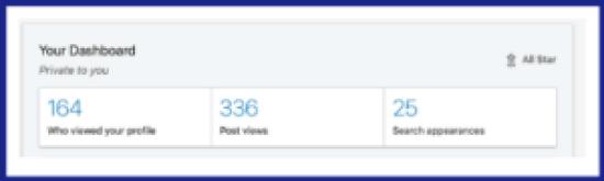 Linkedin for freelancers dashboard