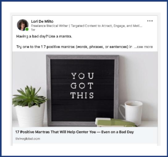 LinkedIn for freelancers post