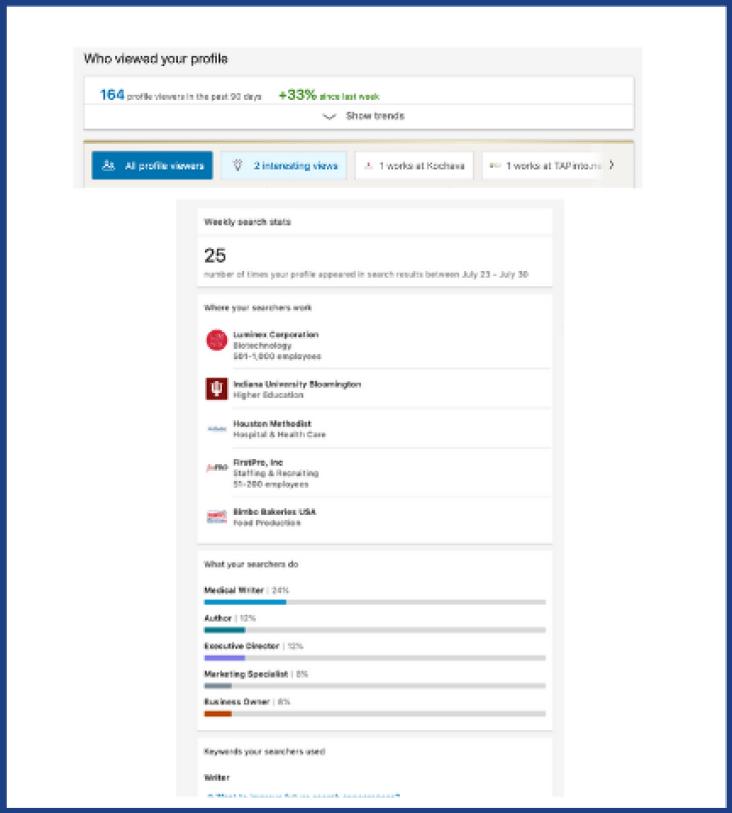 LinkedIn for freelancers views