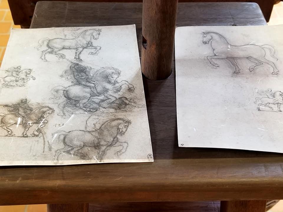 Leonardo da Vinci's sketches of horses