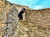 Cannon facing the camera at Gates Fort in St. George's, Bermuda