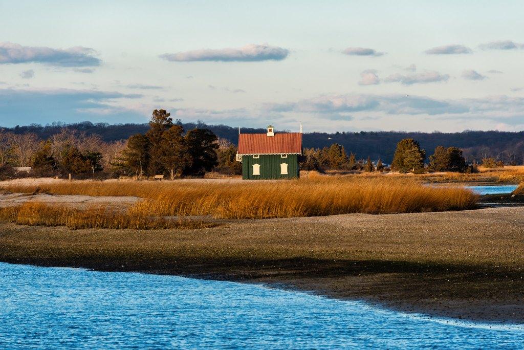 Stony Brook Harbor in Long Island, New York.