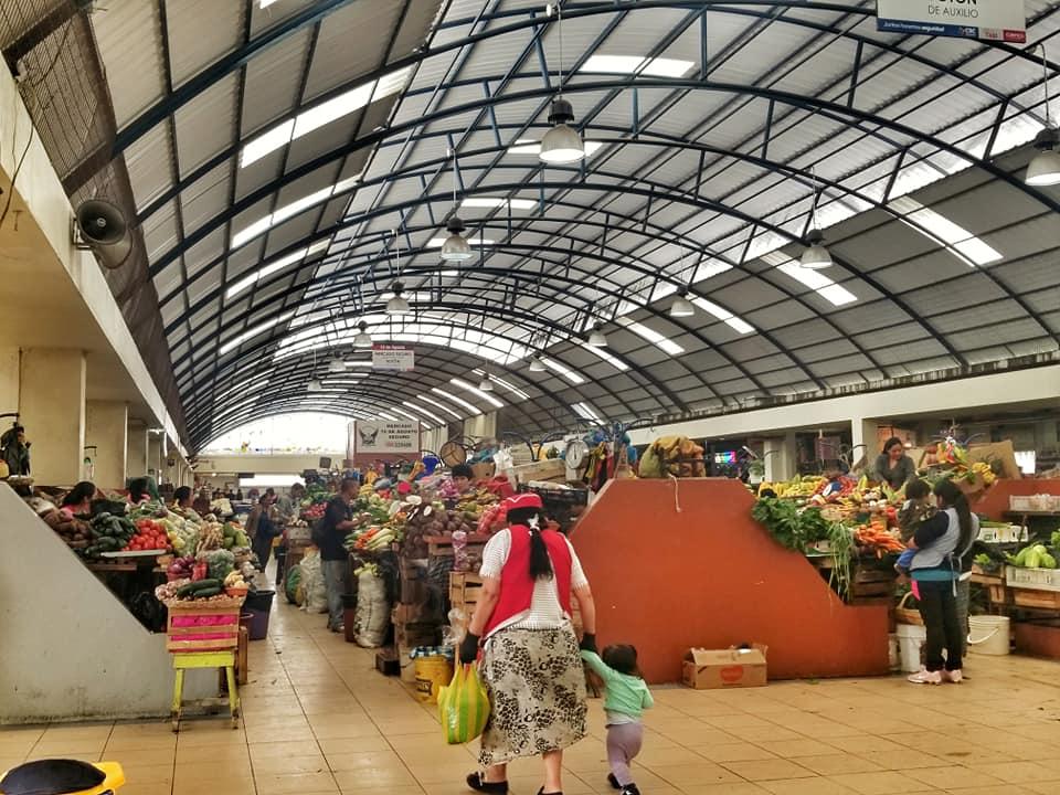 Interior of large mercado in Cuenca, Ecuador