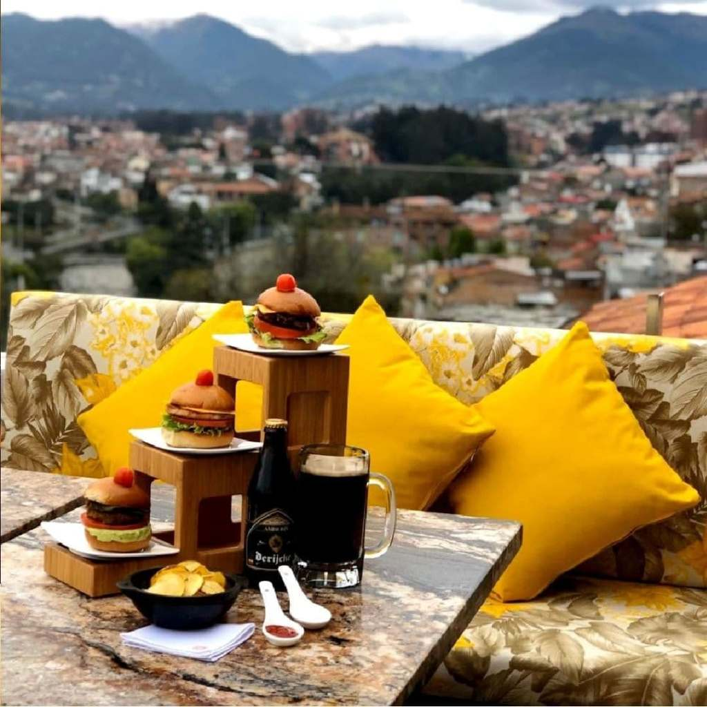 One of the best viewpoints in Cuenca, from the rooftop restaurant at Hotel Cruz del Vado.