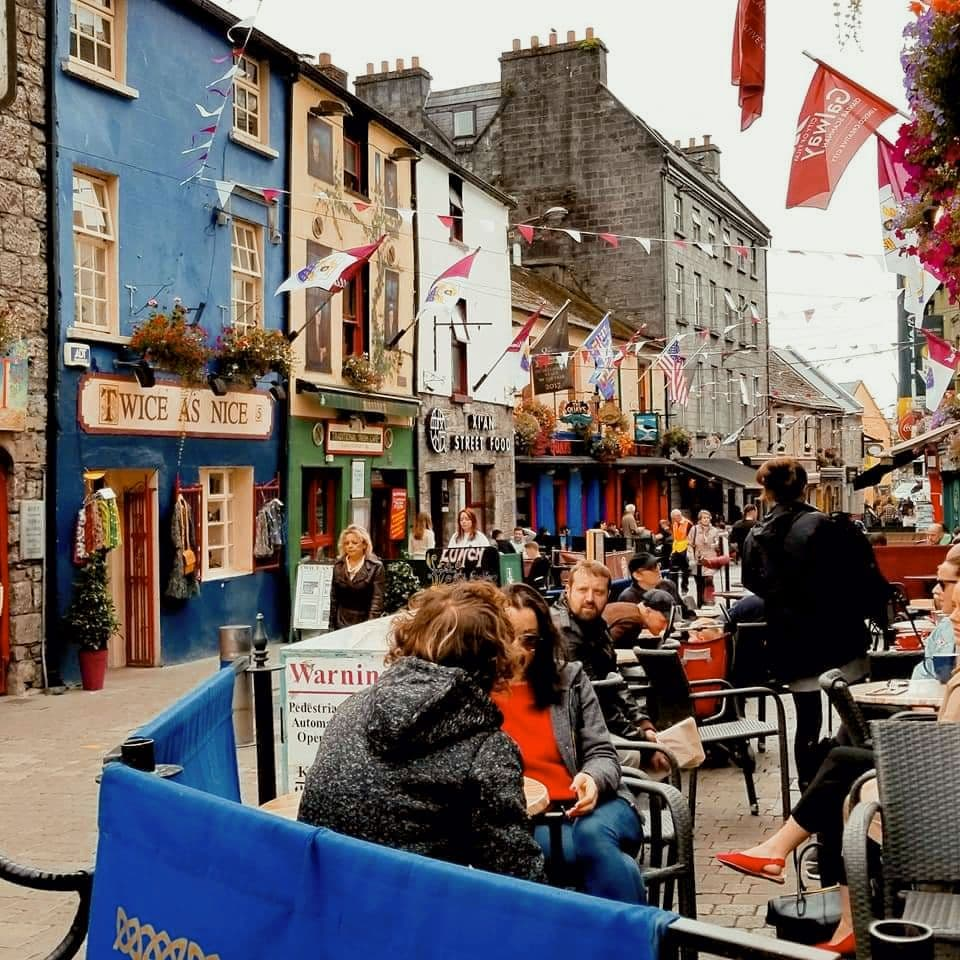 Latin Quarter in Galway, Ireland.