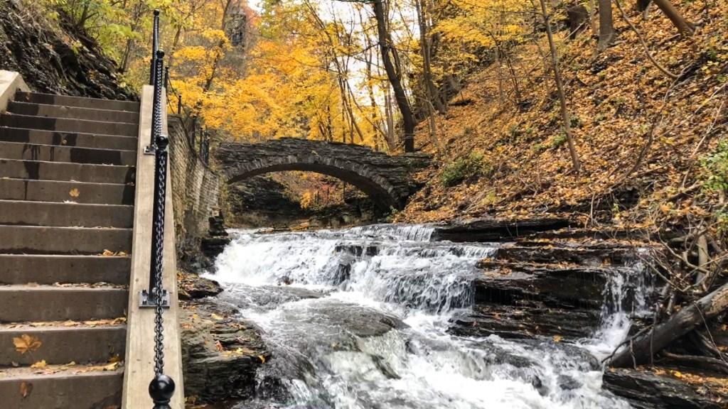 Cascadilla Gorge Trail in Ithaca, NY