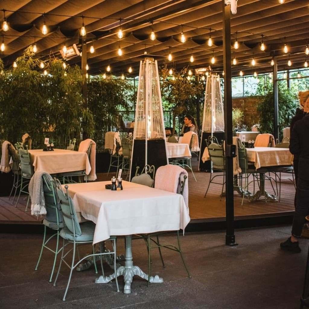 Interior of Samsara Foodhouse, an iconic vegetarian/vegan restaurant in Cluj-Napoca, Romania.