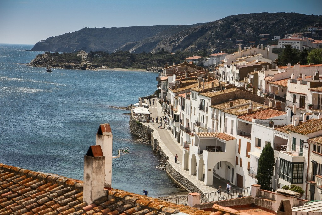 White washed seaside town of Cadaques, Spain, home of Dali and great day trip from Barcelona.