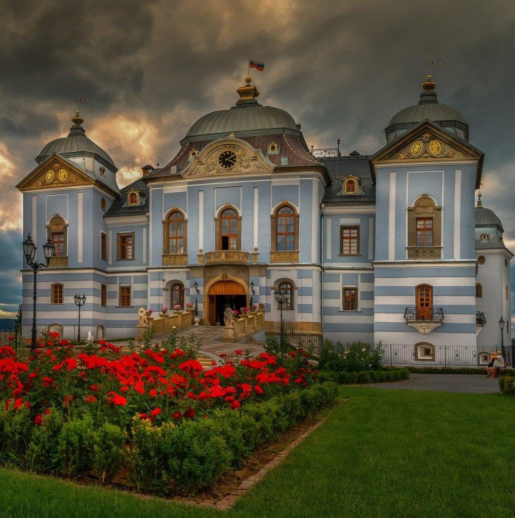 Exterior façade of Halic Castle in Slovakia bucket list