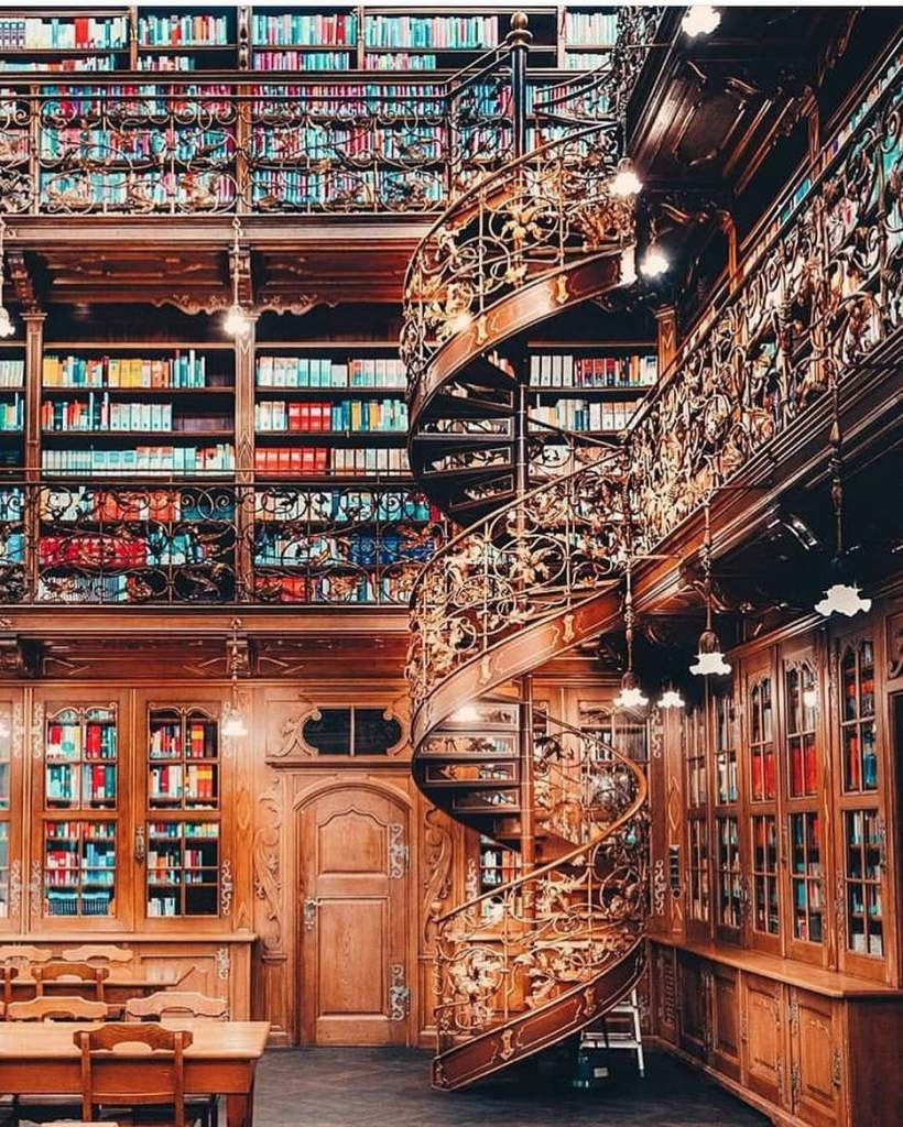 Spiral staircase at the legal library in Munich, Germany.  Insta-worthy