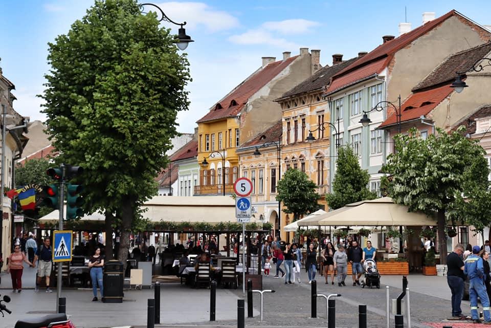 Strada Nicolae Balcescu in Sibiu, Romania