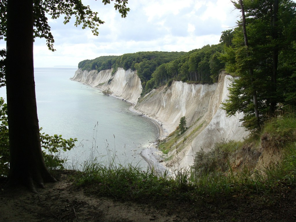 White chalk cliffs on Germany's largest island, Rugen.