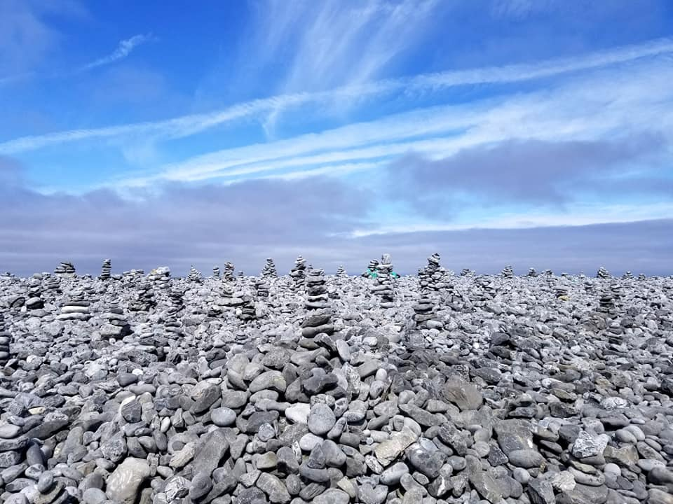Stacked rocks on the island of Inis Mor, Ireland