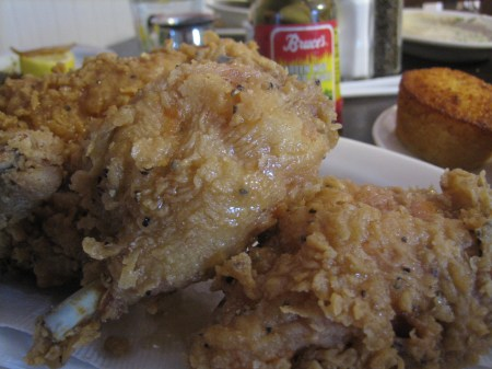 Fried chicken from Greenwoods on Green Street in Roswell, GA