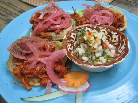 Panuchos from a Malinalco restaurant, on the square. (Sorry, I can't remember the name!)