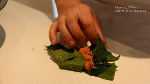 Chaya leaf tamales