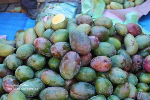 Mangoes at a market in Oaxaca.
