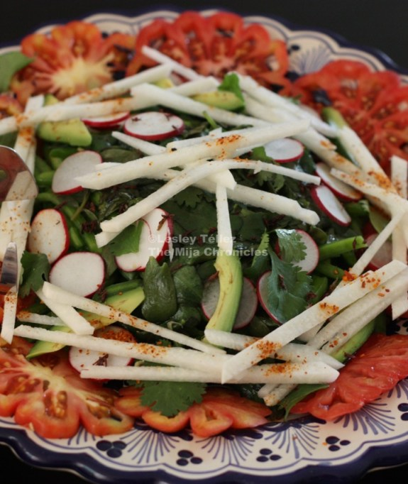 Pilar Cabrera's nopal salad. Photo by Lesley Téllez.