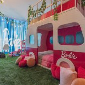A hotel in Mexico is offering a Barbie-inspired room that will make you feel like a kid again