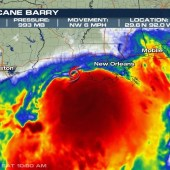 Barry is officially a Hurricane category 1