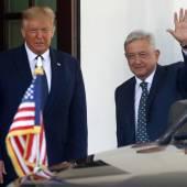 Trump recibe al presidente de México, Andres Manuel Lopez Obrador…