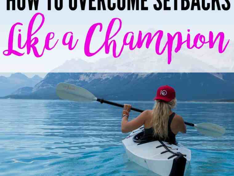 How to overcome setbacks like a champion - we all face setbacks, but it's how we respond to them that determines our future. Click through to find out how to respond to the obstacles that life throws at you.