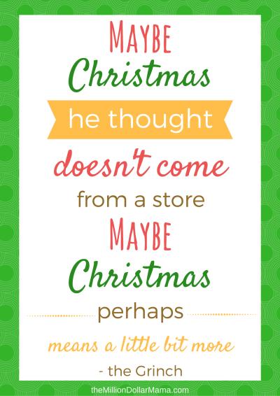 Free Christmas Printable - The Grinch Who Stole Christmas