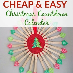 Cheap & Easy DIY Christmas Countdown Calendar