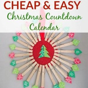 Cheap & Easy DIY Christmas Countdown Calendar