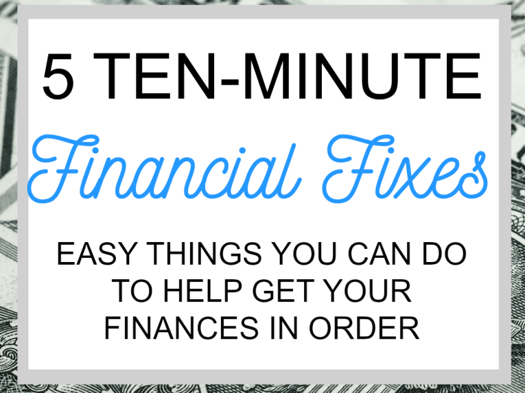 These easy financial fixes well help you get your finances in order