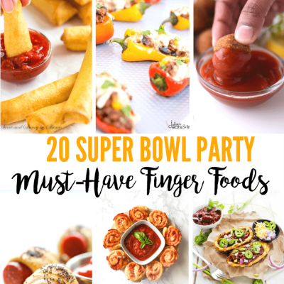 Super Bowl Party Food Ideas - These 20 delicious, must-have Super Bowl party finger food ideas will ensure that your game day party is a winner!
