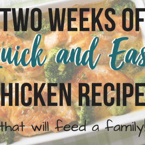 Quick and Easy Chicken Meals That Will Feed a Family