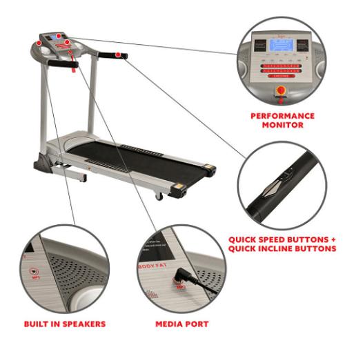Auto Inclining Foldable Treadmill1