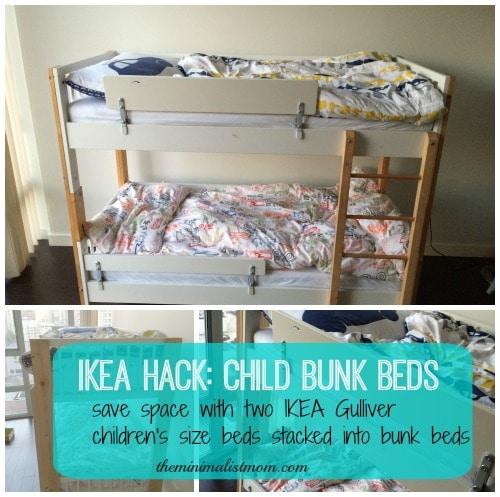 toddler size bunk beds space saving