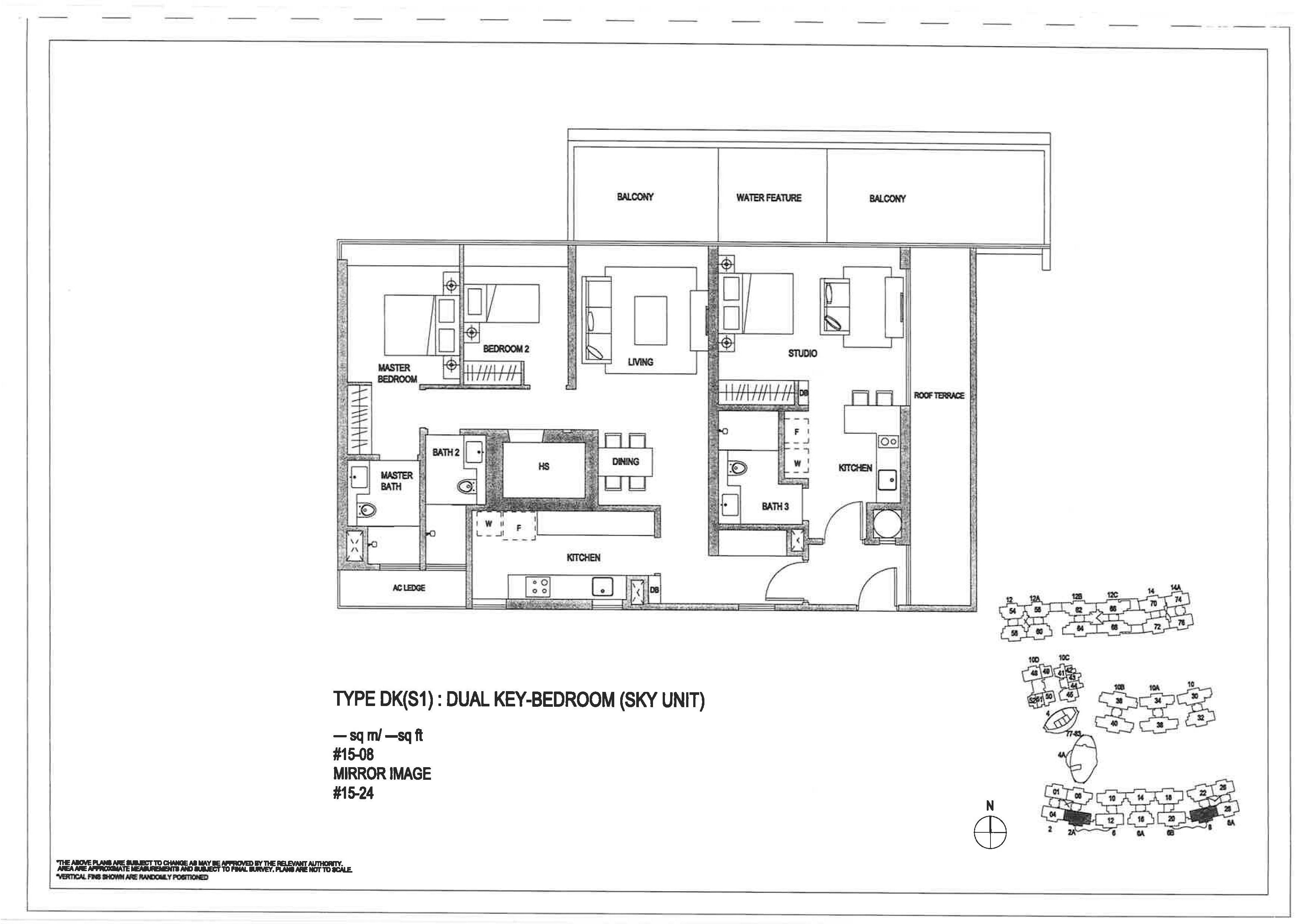 The Minton 3 Bedroom Dual Key Floor Plans Type DK(S1)