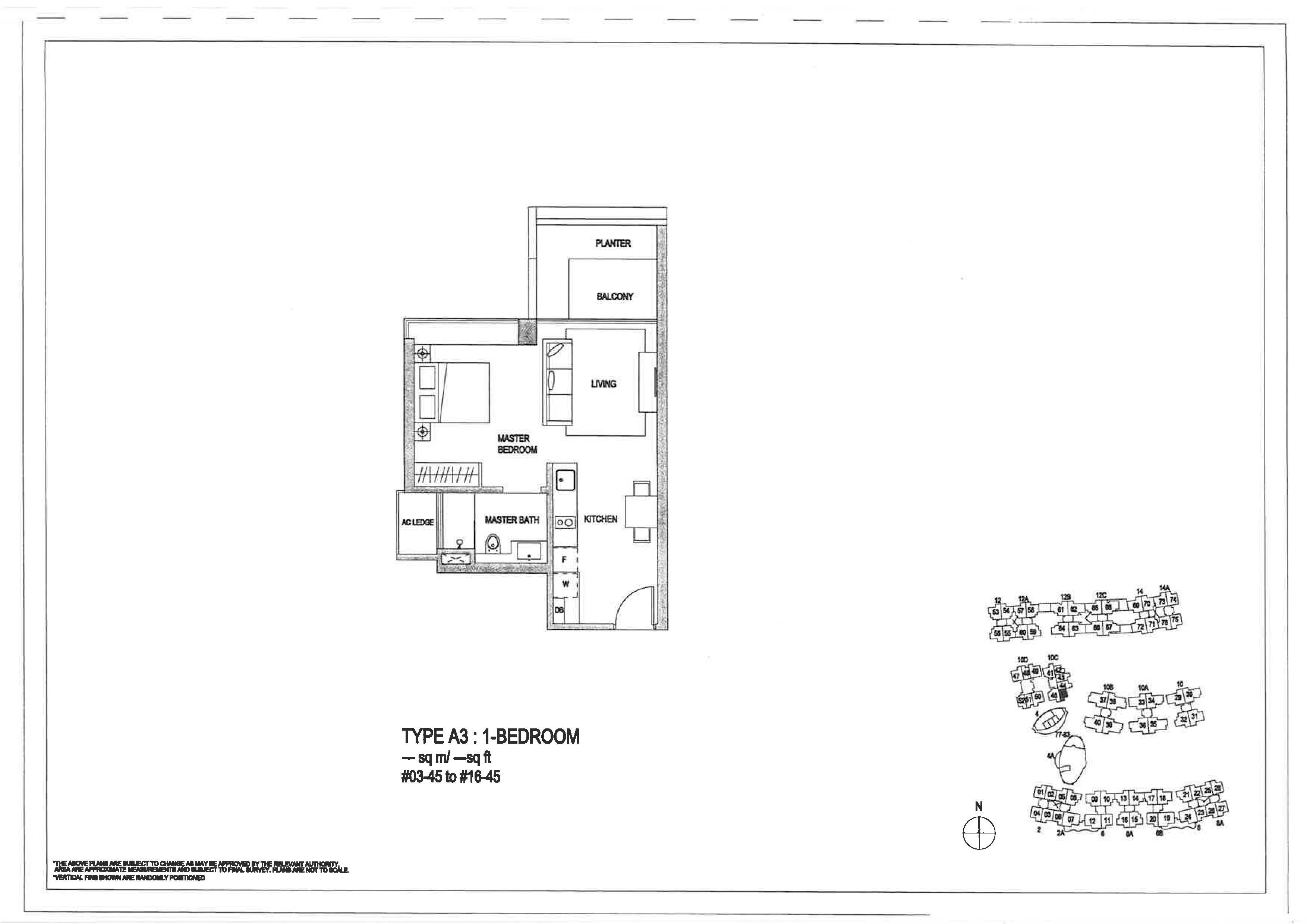 The Minton 1 Bedroom Floor Plans Type A3