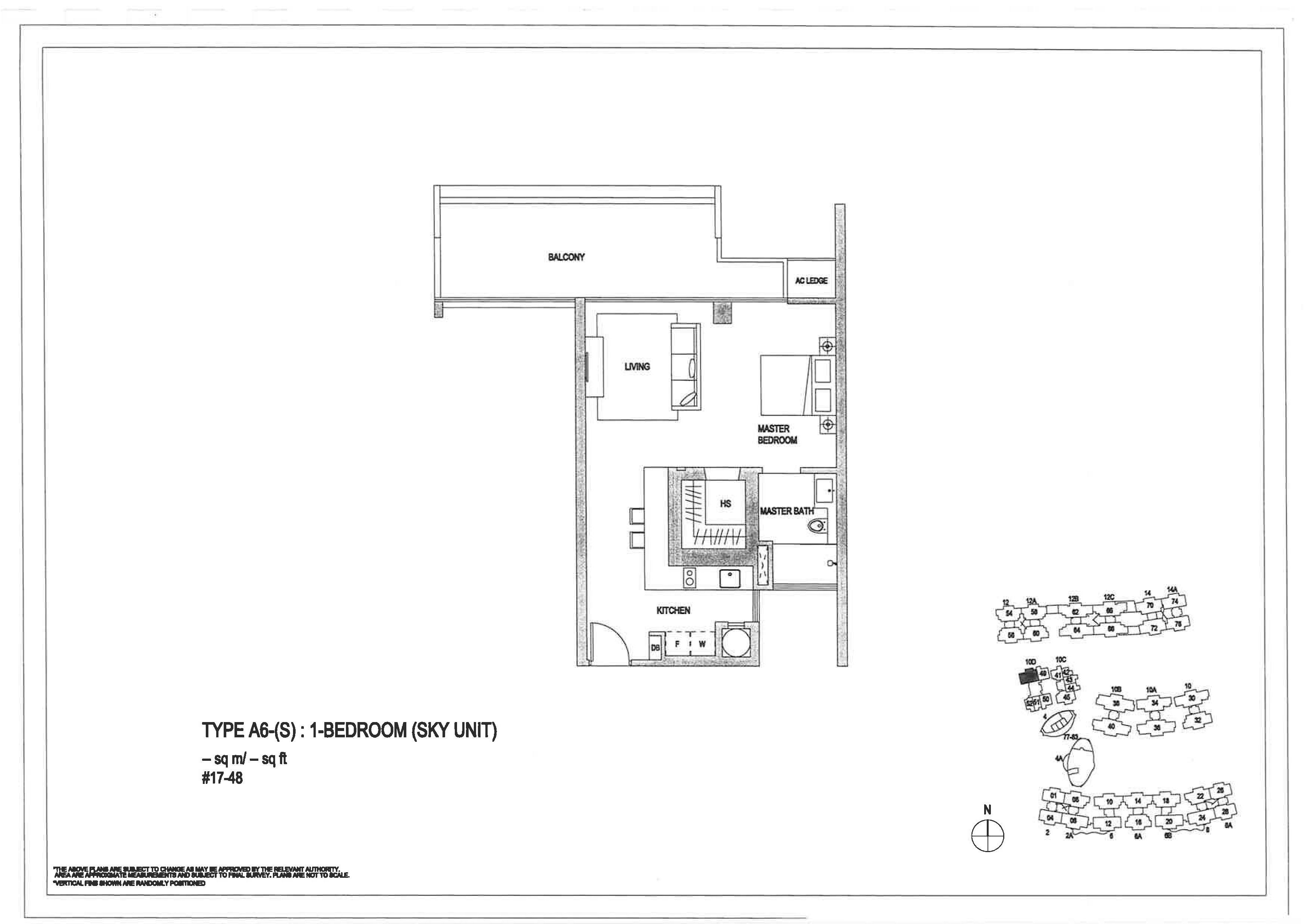 The Minton 1 Bedroom Floor Plans Type A6(S)