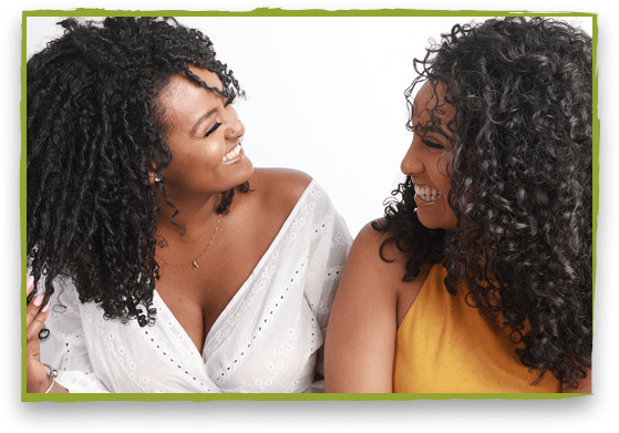 Miracle 9 models with curly hair