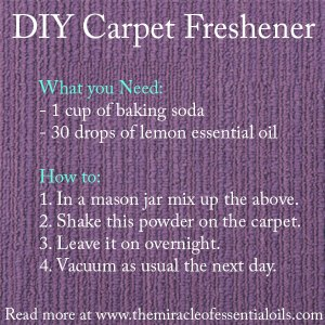 Homemade Carpet Freshener with Essential Oils