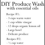 DIY Essential Oil Produce Wash